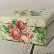 Decoupage tutorial - tea box
