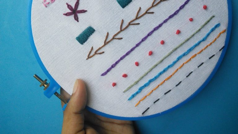Hand Embroidery for Beginners - Part 2   10 Basic Stitches   HandiWorks #52