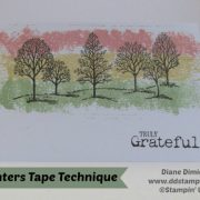 Rubber Stamping Technique Painters Tape