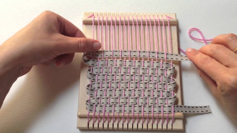 Mini Loom Weaving Tutorial With Ribbon