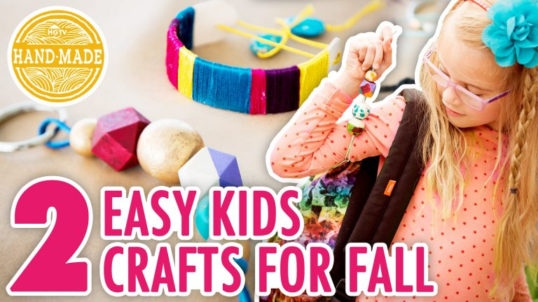 2 Fall Kids' Crafts with Special Guest Lulu! - HGTV Handmade