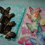 card making with bleach?!?!?! 2 cards!