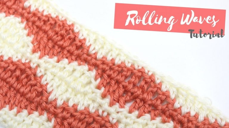 CROCHET: How to crochet the Rolling Waves stitch | Bella Coco