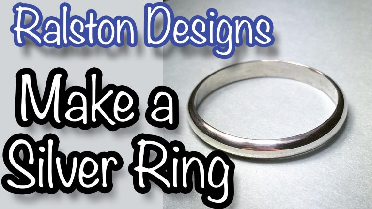 How To Make a Silver Ring Band - Jewelry Making Tutorial