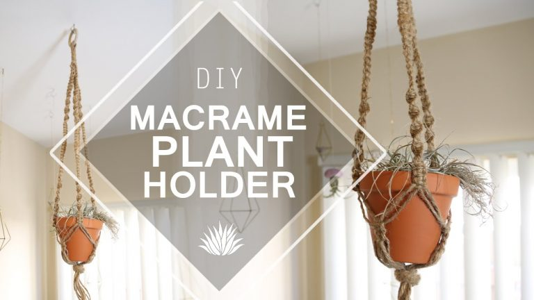Macrame Plant Holder ♥ DIY