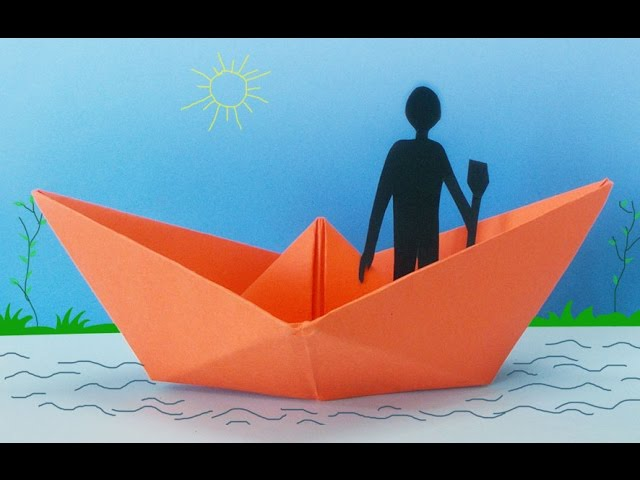 Fun Activities for Kids : How to Make a Paper Boat   Kids Crafts