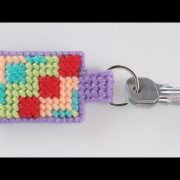 Needlepoint Basics: Plastic Canvas Keychain