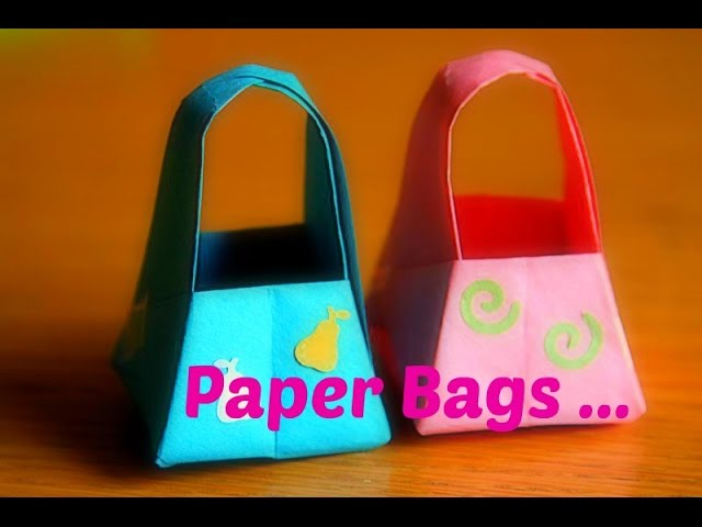 PAPER BASKET with Handle || DIY PAPER CRAFTS || ORIGAMI