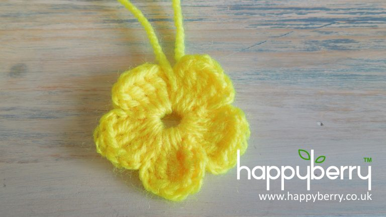 (crochet) How To - Crochet a Simple Flower version 2 - Absolute Beginners