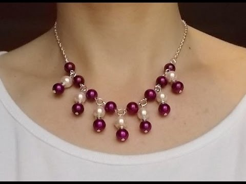 DIY Jewelry Making - How to Make an Easy & Beautiful Chain Beading Necklace + Tutorial