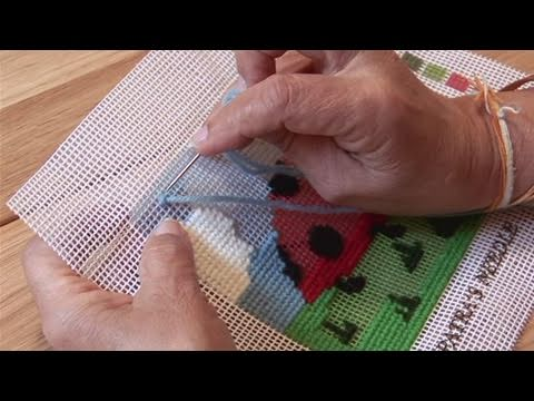 How To Do Needlepoint With Wool