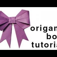 Origami - How to fold a paper Bow/Ribbon