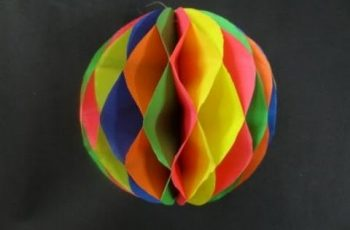Paper Crafts: How to make a Paper Honeycomb Ball