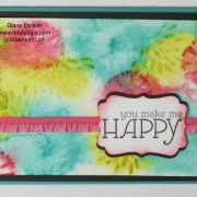 Rubber Stamping Technique watercolor background