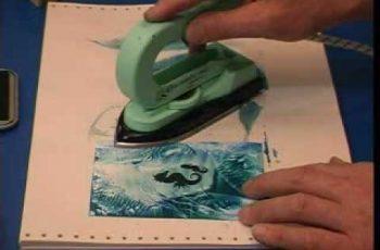 Encaustic Art  lesson 03 - rubber stamping