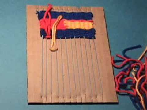 Weaving on a Cardboard Loom