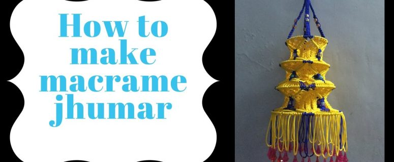 How to make macrame jhumar   step by step   Full video   wall piece