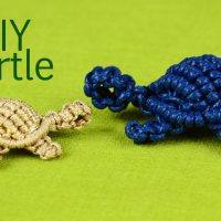 How to: Macramé Turtle, Tortoise, Tortue, Tortuga, Tartaruga