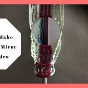 How to make Macrame Mirror stand| | wall piece / Watch full HD Video tutorial