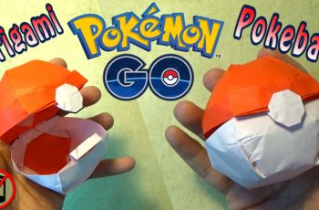 Origami Pokeball that Opens! (no music)