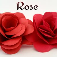 "How to make a easy realistic paper ""💕 Valentine Rose 🌹 "" - Paper crafts tutorial"