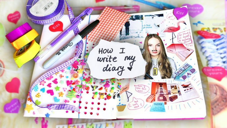 SCRAPBOOKING ♥ How I write my diary
