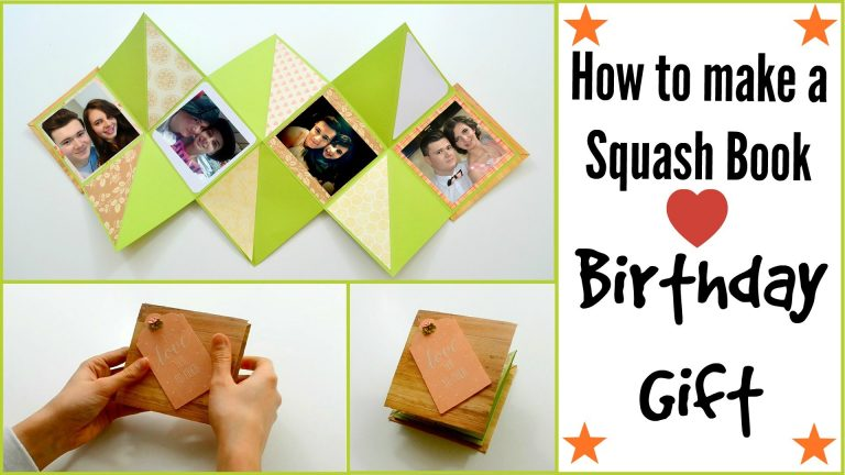 How to make a Squash Card - Squash Book - Valentine's Day DIY Paper Crafts - Scrapbooking Gift Ideas