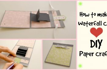 How to make a waterfall card - DIY Crafts  - Scrapbooking Tutorial - Birthday Handmade Gift Ideas
