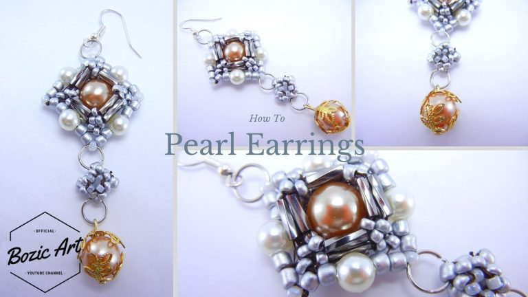 Pearl Earrings | Beading Tutorial