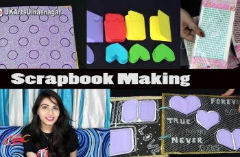Scrapbook Making - 5 Bases, 26 Greeting Cards and Scrapbook Material and Tools | JK Arts 1144