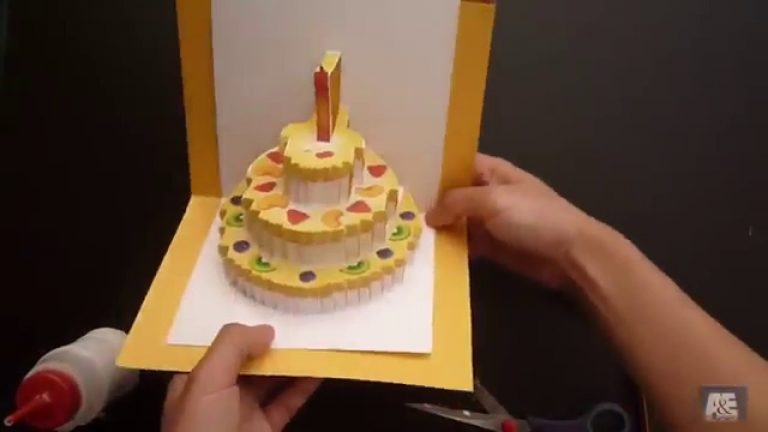 Birthday Cake Cards - Making a Birthday Cards