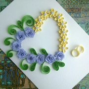 Paper Wedding Cards: make paper Quilling Wedding Card with heart