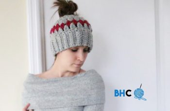 Crochet Messy Bun Hat Tutorial