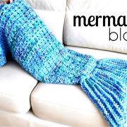 How to crochet a MERMAID TAIL BLANKET ♥ CROCHET LOVERS