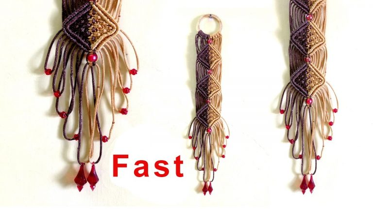 Macrame wall hanging, Make your own macrame wall hanging, Fast motion