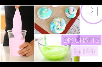 Fun DIY Kids Crafts (Unicorn Poop, Bouncy Ball, Bubbles)