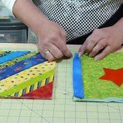 How to join up Quilt as you Go blocks and borders - Quilting Tips & Techniques 074