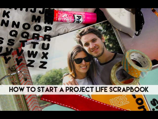 How to start a Project Life Scrapbook // Lily Pebbles