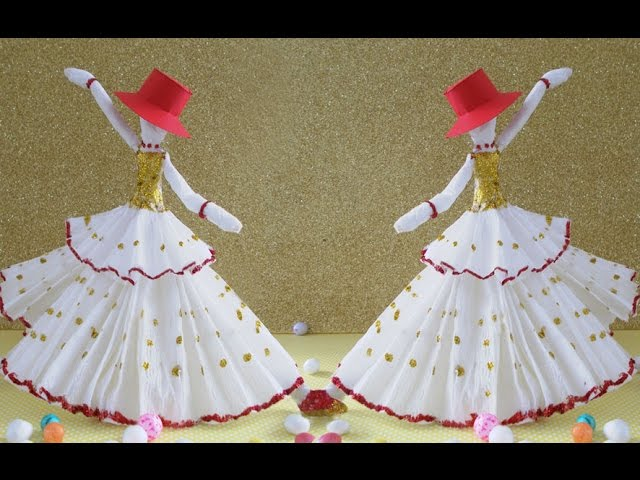 DIY Paper Crafts |  How to Make Amazing Dancing Doll from Tissue Paper | Fun Crafts