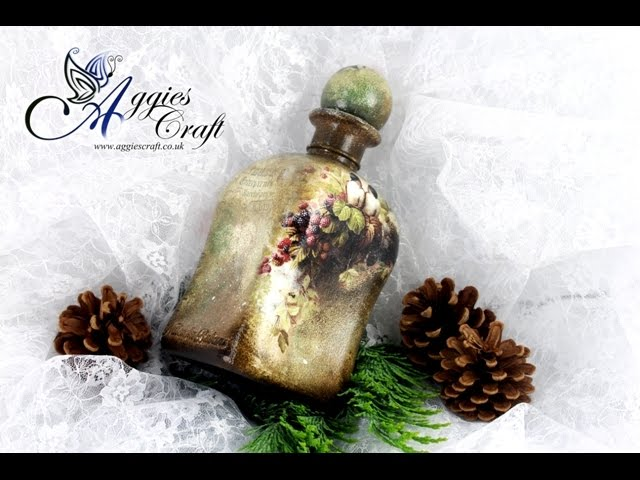 Decoupage Tutorial - Vintage Bottle - DIY Tutorial