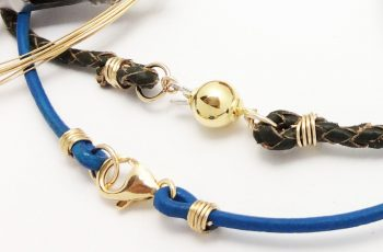 How to Attach any Clasp to Leather or Thick Cord - Jewelry Making Ideas, Tips, and Tutorials