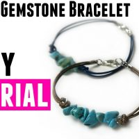 Gemstone Bracelet with Waxed Cord - DIY Jewelry Making