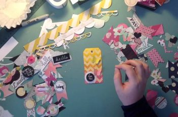 DIY scrapbooking embellishments
