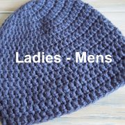 "(crochet) How To - Crochet a Simple Beanie for Ladies - Mens Size (22""-24"")"