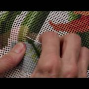 Elizabeth Bradley Needlepoint Stitching Up the Stem