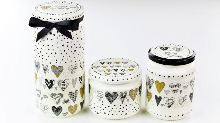 Decoupage jars - Fast & Easy Tutorial - DIY