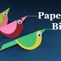 Paper Crafts for Kids - How to Make Paper Bird (Very Easy)
