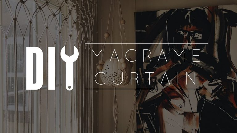 DIY Macrame Curtain