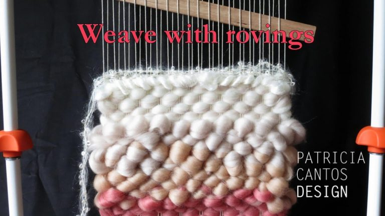 Weaving with roving - Weaving lessons for beginners