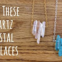 Make a Quartz Crystal Necklace: Jewelry Making Tutorial
